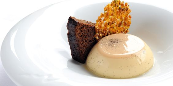 This panna cotta recipe by Josh Eggleton from the multi-award winning Pony Trap is a little different with its caramel flavoured and served with gingerbread - Great British Chefs