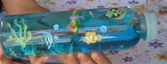 Manualidades para ni os recrea el mar dentro de una - Manualidades para ninos faciles ...