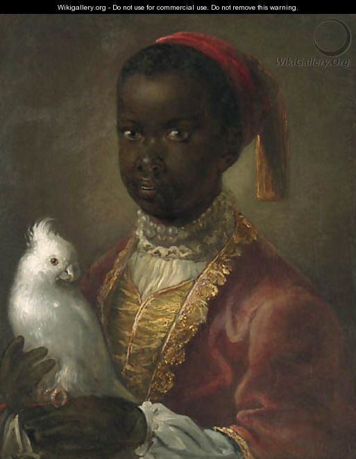 Portrait of a Blackamoor - (after) Jean-Alexis Grimou ...