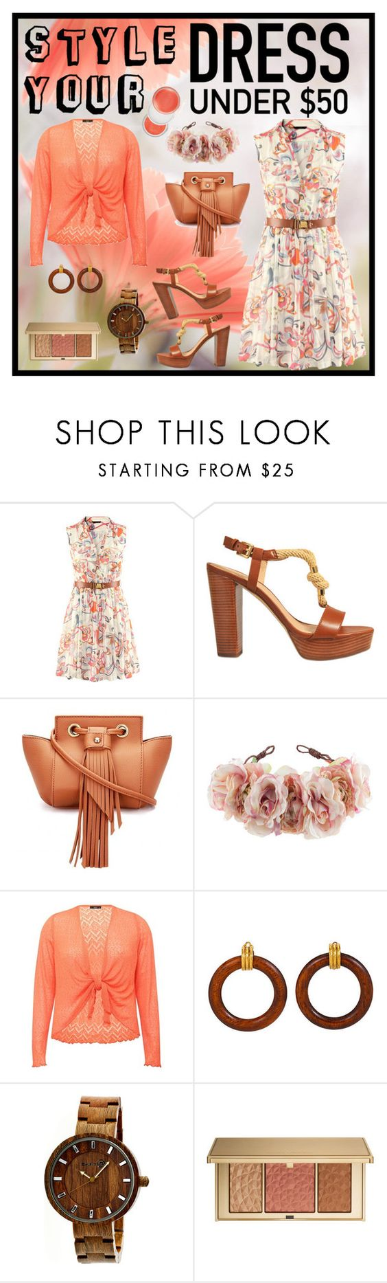 """Dress Under 50 Dollars"" by giovanina-001 ❤ liked on Polyvore featuring MICHAEL Michael Kors, Rock 'N Rose, M&Co, Estée Lauder, Clinique and Dressunder50"