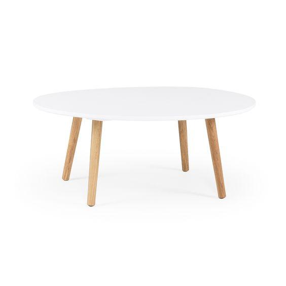 Ray salongbord 40 cm, hvit/eik   ray er serien med moderne møbler ...