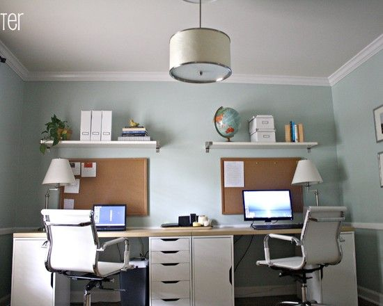 Home office for two design pictures remodel decor and for Home office renovation ideas