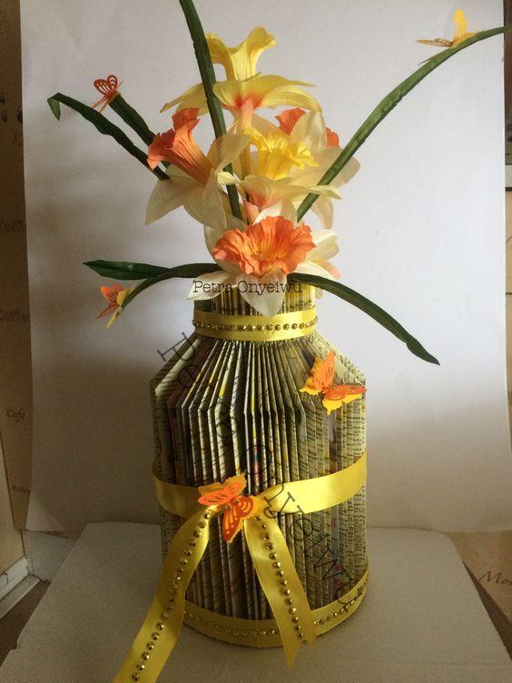 Vase aus Papier Falten