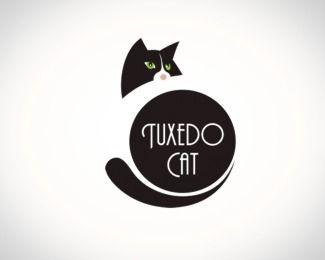 Image detail for -Tuxedo Cat Logo Design Details