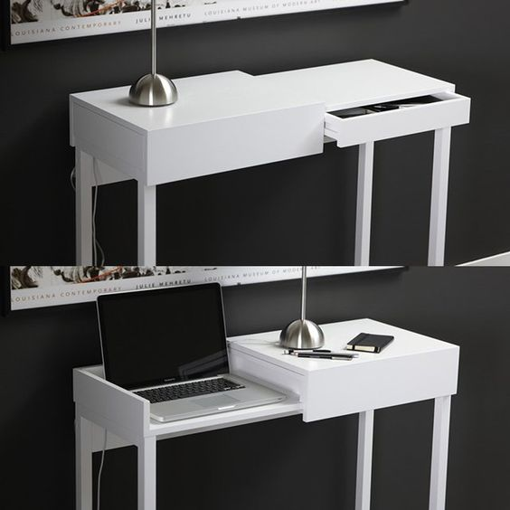 Hidden Laptop Table by A2 Designers perfect for home office work space area