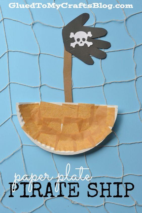 Paper Plate Pirate Ship - Kid Craft