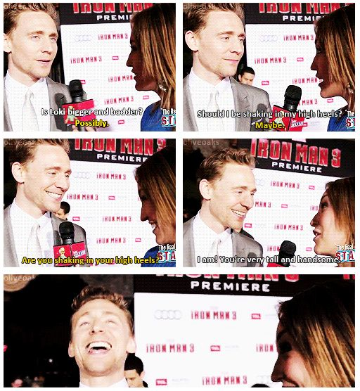 Hiddlestoners: we're everywhere. <--Has anyone noticed that sometimes it takes him a few minutes to realize that he's being hit on, lol. its so endearing and adorable