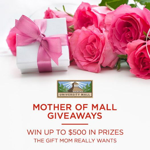 Ready to win up to $500 in prizes? Repin this to enter to win the Mother of Mall Giveaways! We'll be selecting 15 winners to come to the mall May 9th to claim their prizes. All social media winners will get a prize at the mall on May 9th. #MothersDay #Utah #Orem #Provo #Fashion #UtahCounty Like and tag away!