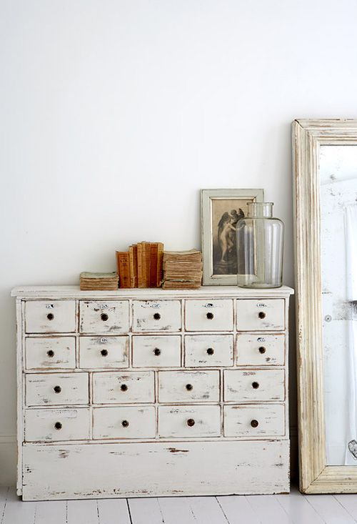 How cool is this! I actually have something like this in the beach house! It is an old library card catalog cabinet!It looks great!