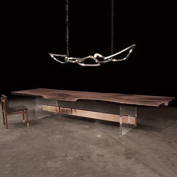 Mesa de comedor / moderna / de nogal / de bronce hommes hudson ...