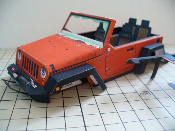 """Stomper"" JK Rubicon Jeep http://papercruiser.com/?p=1750 in progress, build by Tetsuya Hara"