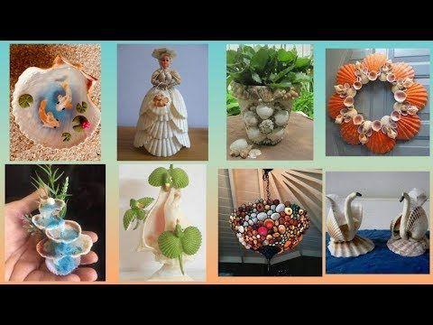 Easy Shells Decoration Ideas Seashell Craft Ideas For Home Decorations Youtube Seashell Crafts Seashell Crafts Kids Seashell Projects