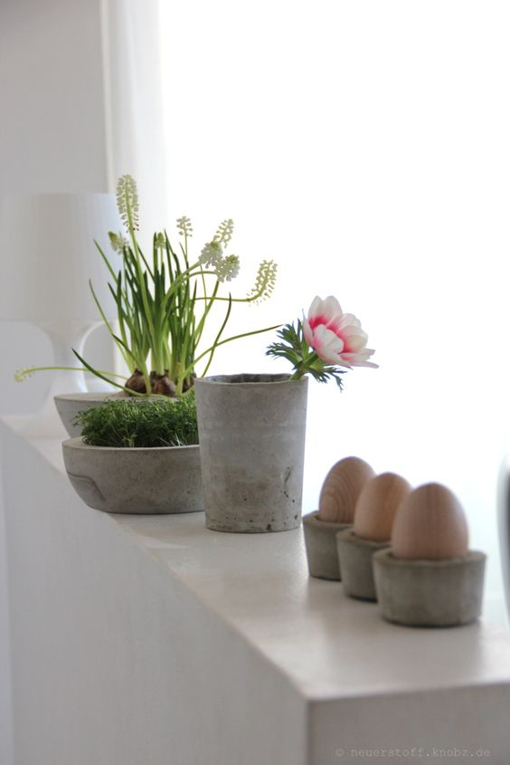 Eierbecher aus beton diy anleitung fr hling eier for Beton dekoration