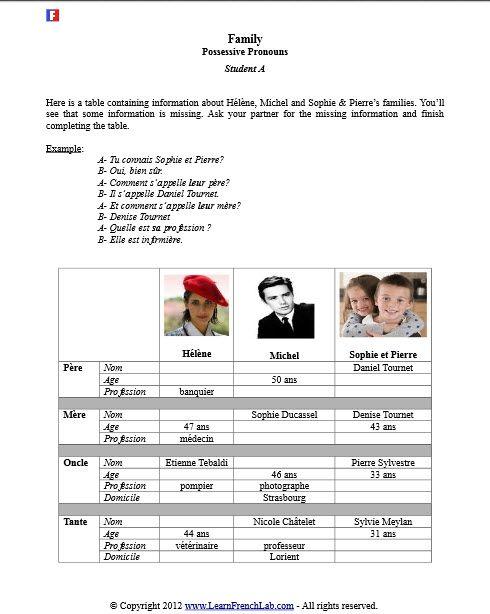 french subject pronouns worksheets kindergarten grammar worksheets free printables education. Black Bedroom Furniture Sets. Home Design Ideas