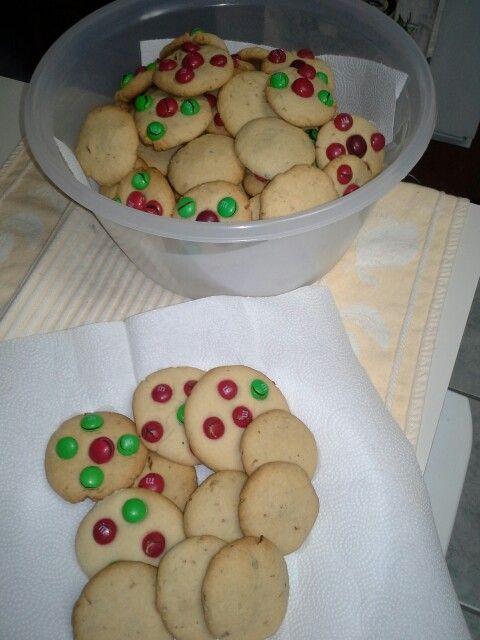Estas galletas de m& m's están sabrosas