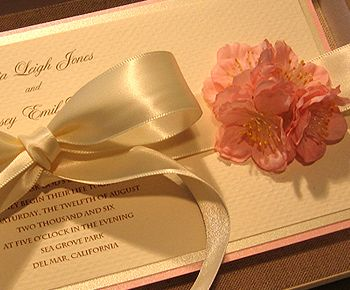 Cherry Blossom Wedding Invitation - Flower Wedding Invitation