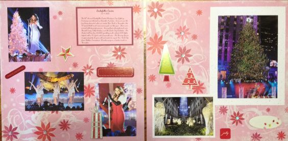 Scrapbook layout page idea Christmas New York City Rockefeller Center Tree Lighting