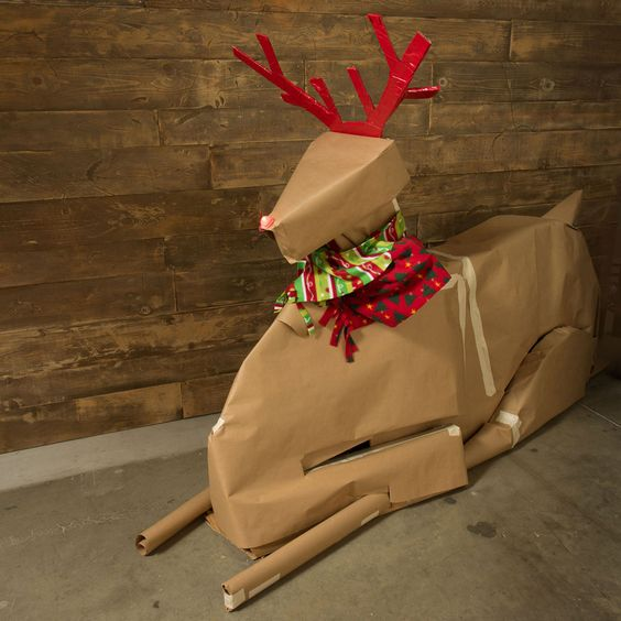 A unique way to gift wrap a bike for the holidays and decorate at the same time.