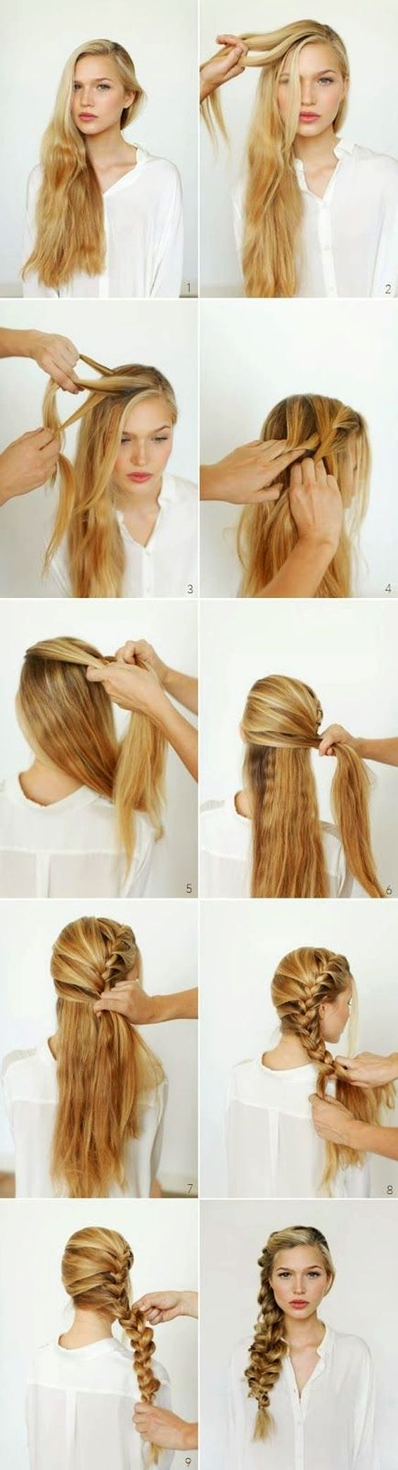 15 Easy Step By Step Hairstyles for Long Hair  Frisur Ideen
