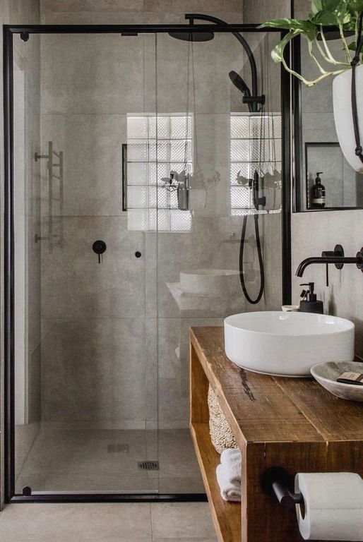 Rustic Bathroom Ideas Here For You Who Want To Create A Bathroom That Feels Elegant And Ear Industrial Home Design Rustic Bathroom Designs Bathroom Inspiration