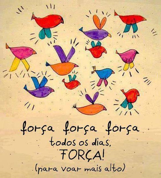 Força, força, força... Todos os  dias, FORÇA! (para voar mais alto!):