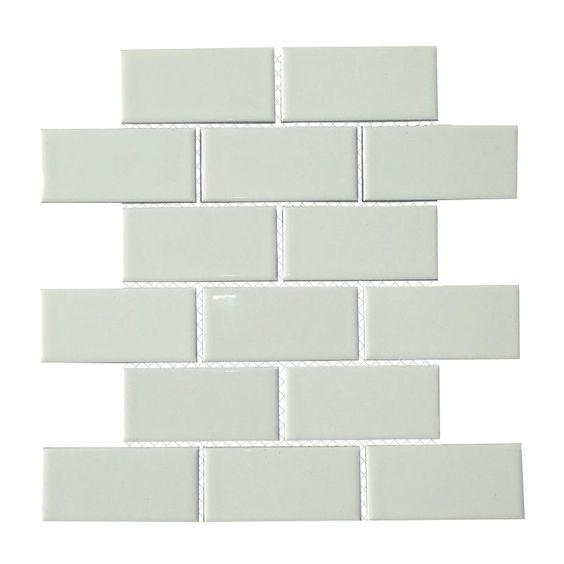 """Mulia Tile Classique 2"""" x 4"""" Porcelain Subway Tile in White"""