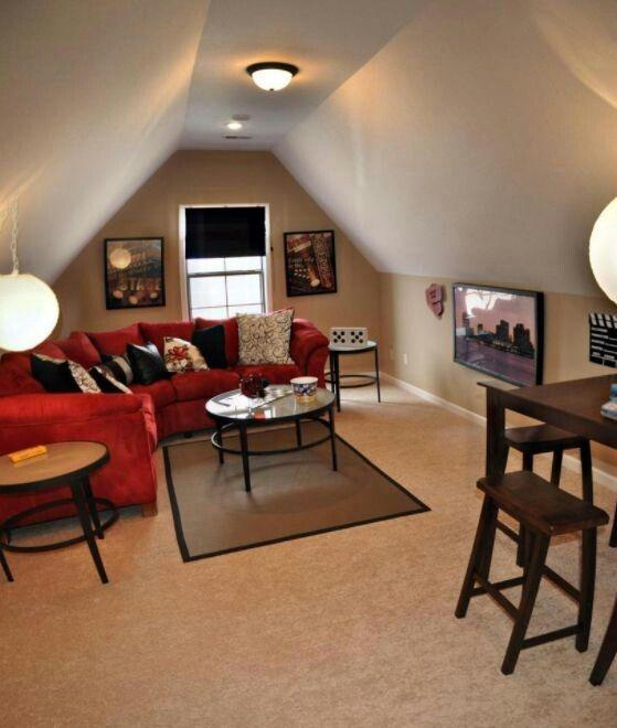 Man Cave Over The Garage Bonus Room Decorating Bonus Room Design Attic Game Room