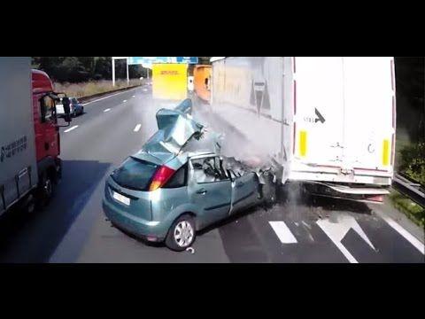 Horror Accident Car Vs Truck Nearly Fatal Live Crash Woman