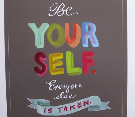 Be Yourself Print  by Emily McDowell Illustration