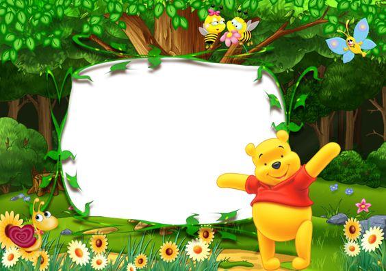 Winnie the Pooh Kids Transparent Photo Frame Keretek