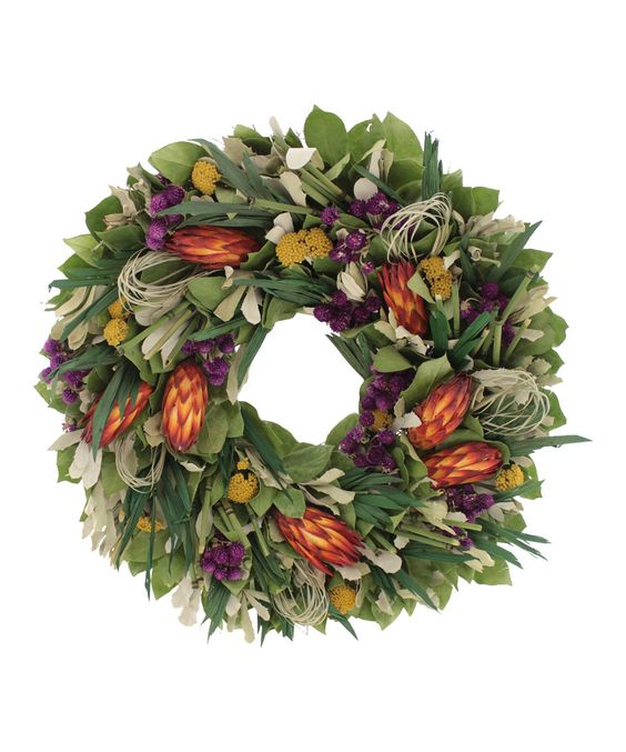 Pretty --- Another great find on #zulily! Tropical 22'' Wreath by Floral Treasure #zulilyfinds