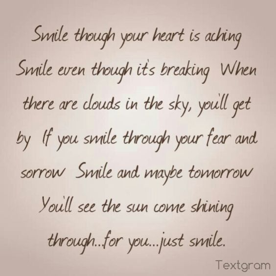 Heart Breaking Words When To Your Is Smile The Song
