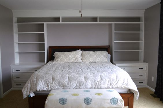 Our Bedroom Built-ins Finally Finished. So Much Additional