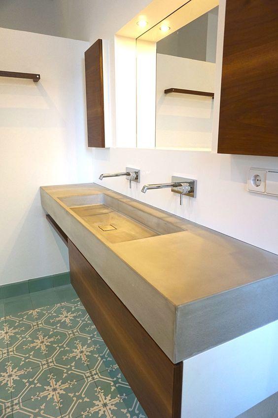 Neues Bad Im Denkmal Waschtische Aus Beton Betonmobel