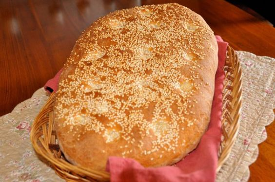 Lagana, special bread for Clean Monday.