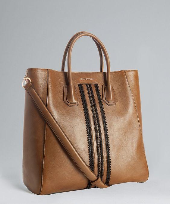 Givenchy whiskey glazed leather 'Antigona' convertible tote | BLUEFLY up to 70% off designer brands
