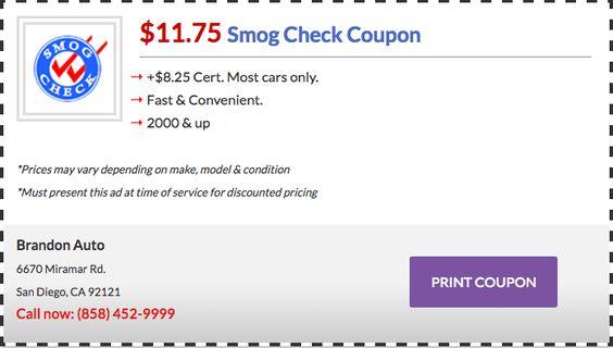Smog Coupons for Akon Auto Center San Diego Smog Check Pinterest