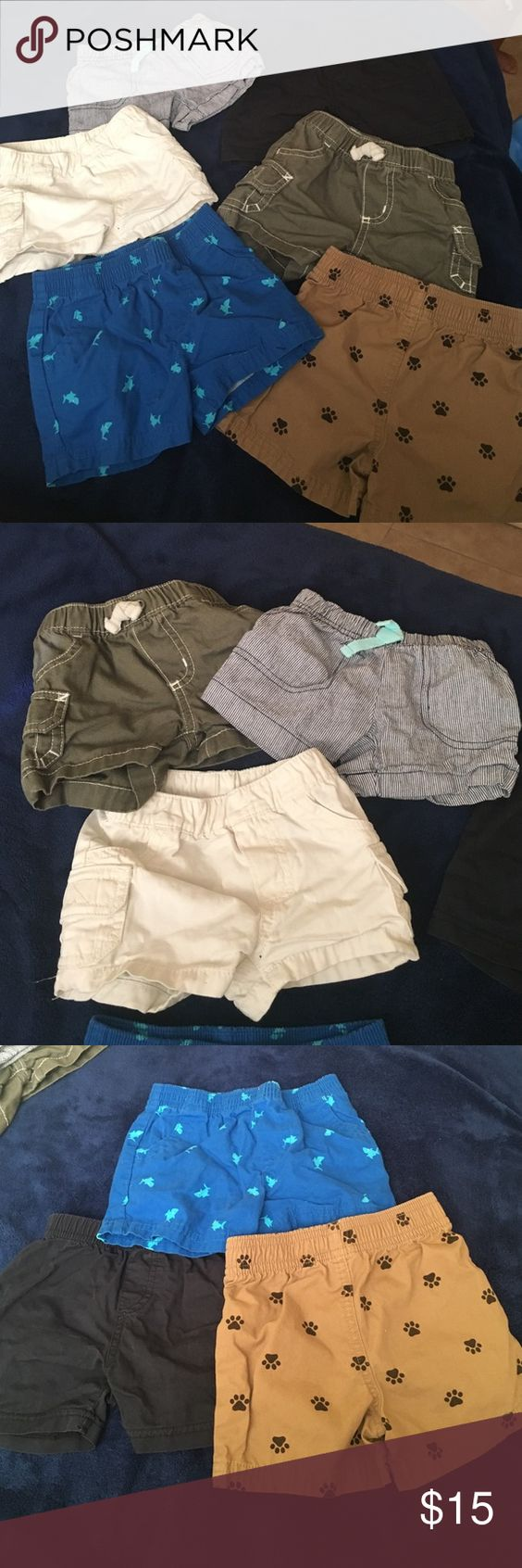 Baby pants 3 carter shorts and 3 other brands. All gently used. Sizes 3months -6. Carter's Bottoms Shorts