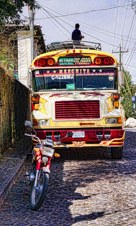 Chicken Buses- riding the buses in Central America.
