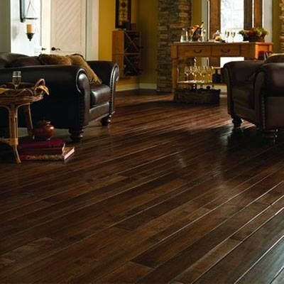 """An up and coming look in hardwood floors is random width installations. The """"pattern"""" looks great in large open rooms"""