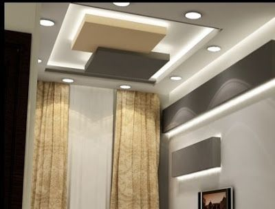 Gypsum Board False Ceiling Designs With Indirect Lighting For