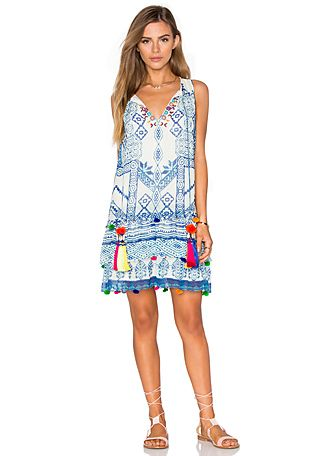 HEMANT AND NANDITA Mini Shift Dress in Hmong | REVOLVE