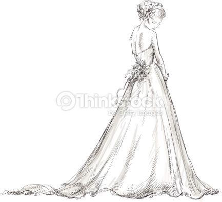 dessin de femme en tenu de mariée - Recherche Google ...