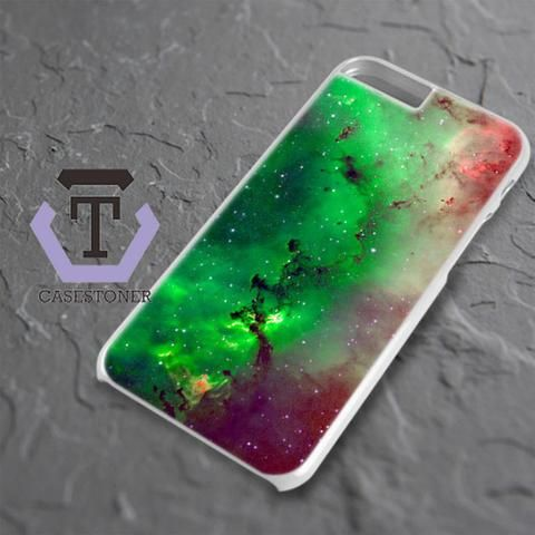 Red Green Galaxy Nebula iPhone 6 Plus|iPhone 6S Plus Black Case