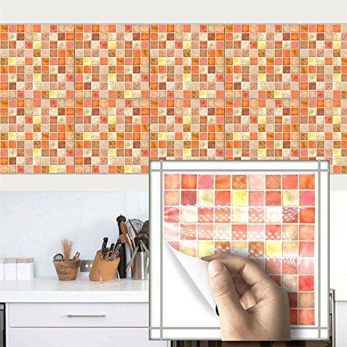 Amazingwall 10pcs Mosaic Brick Tiles Kitchen Backsplashes Https Www Amazon Com Dp B073p39gzx Ref Cm Sw R Pi Dp Retro Tiles Style Tile Brick Tiles Kitchen