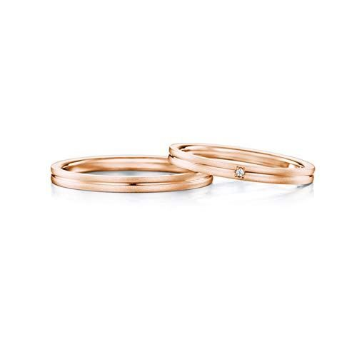 Gnzoe 2pcs 18k Rose Gold Wedding Bands For Couples Simple Line With Diamond 0 02ct Eng In 2020 18k Rose Gold Wedding Band Wedding Rings Engagement Wedding Ring For Him