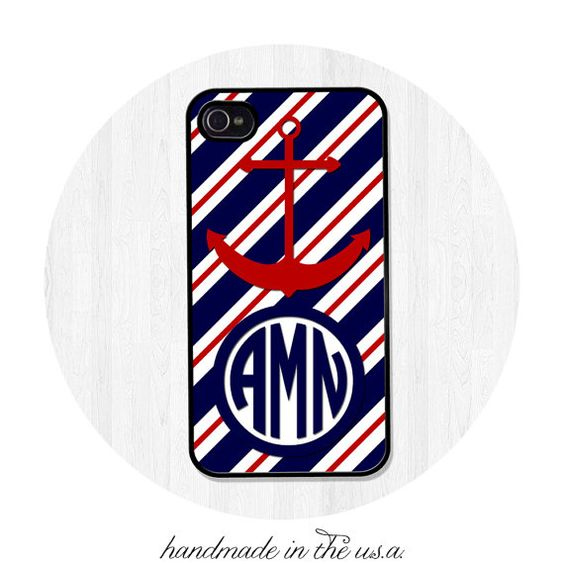 iPhone Case iPhone5 iPhone5S Personalized Nautical by BeeCovered5, $15.95