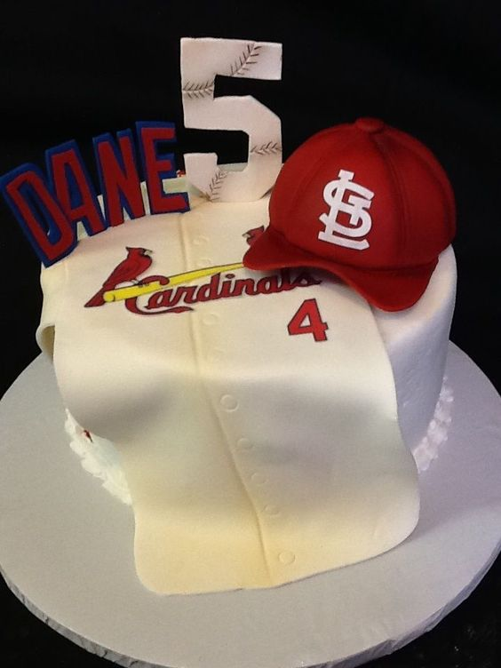 Cardinal Cake Images : Buttercream fondant, Fans and Love this on Pinterest