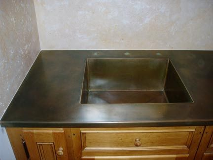 Google search and countertops on pinterest for Zinc countertop cost