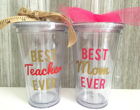 Personalized Tumbler, Gifts for Her, Best Mom Ever, Best Teacher Ever, Sister…